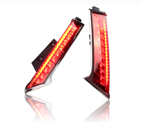 Hireno LED TailLights Column Lamp For Nissan X Trail Rogue 2014 2015 Rear End Tail Brake