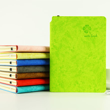 Cheng Jia A6 A5 Four Leaf Clover Leather Notebook Diary Office Stationery Journal Traveler School Line Blank Grid Kraft Notebook стоимость
