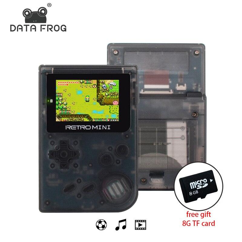 Daten Frosch Retro Spielkonsole 32 Bit Tragbaren Mini Handheld Spiel auto-mp3-dvd-player Eingebaute 940 Für GBA Klassische Spiele Beste Geschenk Für Kinder