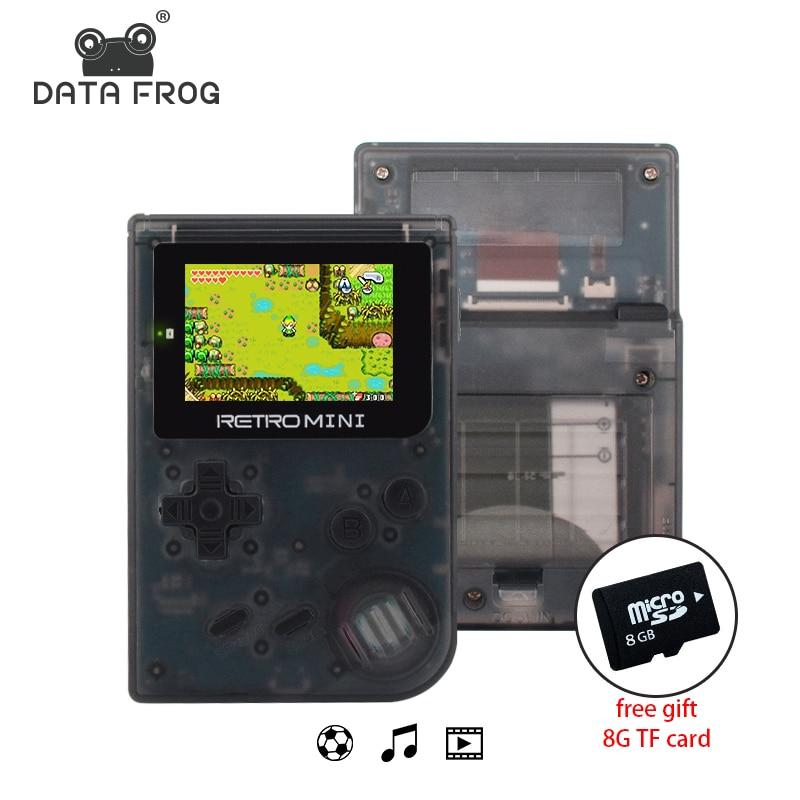 Dati Frog Retro Game Console 32 Bit Mini Portatile Tenuto in mano del Gioco giocatori Built-In 940 Per GBA Giochi Classici Miglior Regalo Per I Bambini