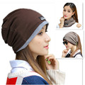 Three Kinds Of Usage Scarf Hats Headgear For Women Winter Warm Knitted Cap Spring Autumn Ladies Hats Hip Hop Women Soft Beanie