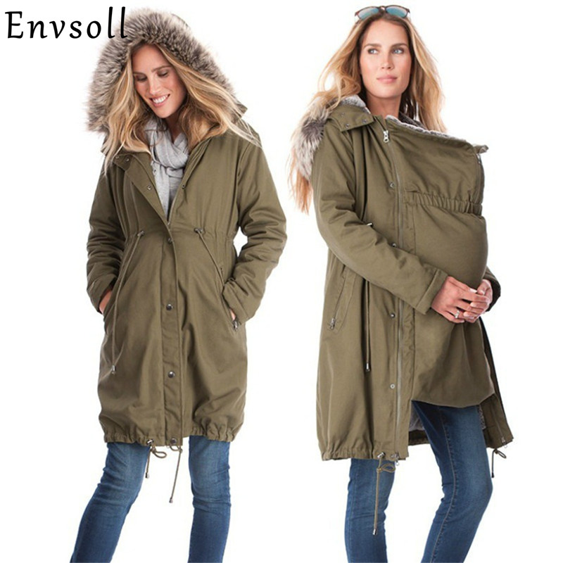 Maternity Coats Jacket Kangaroo Winter Maternity Hoody Long Sleeve Dress Outerwear Coat For Pregnant Women With Baby Carrier пазл 30 элементов midi castorland строим дом
