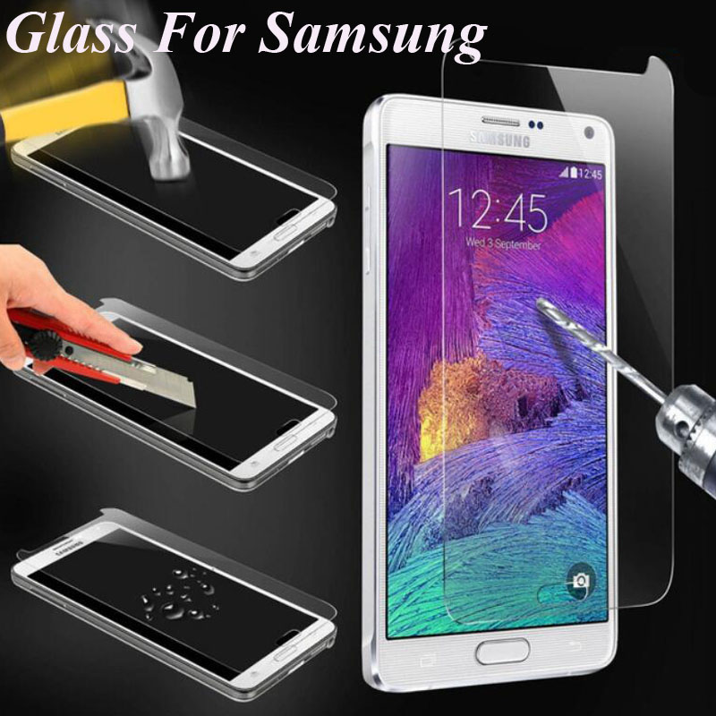 Tempered Glass Screen 0.3MM 9H 2.5D Protector Film Phone Cases For Samsung Galaxy 2016 A ...