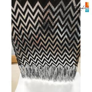 Image 4 - Tissus élastiques et glands, filet africain en dentelle, paillettes et mailles brodées, tissus de mariage de haute qualité 2019