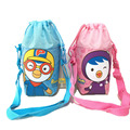 Cute Pororo Toys For Children Outdoor Thermos Baby Bottle Cover Warmer Insulation Baby Bottle Bag Huggers Children School Bag