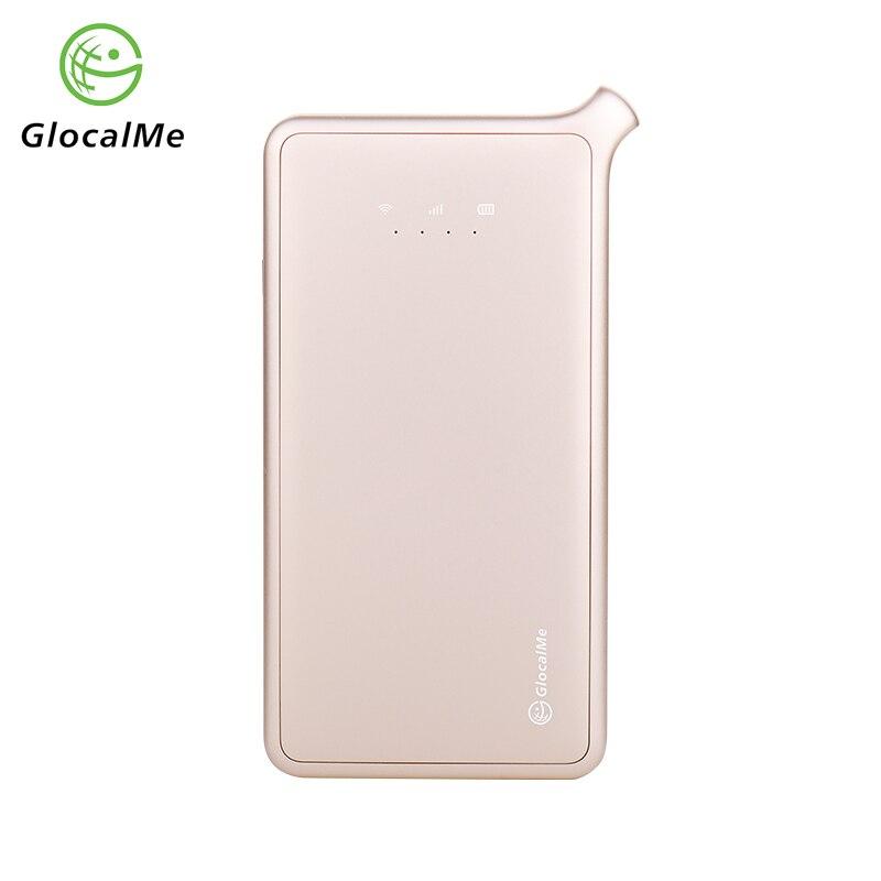 GlocalMe 4G Mobile Router Wifi Portatile Router in Roaming Nessuna Carta Sim Banca di Potere Nuovo 2018