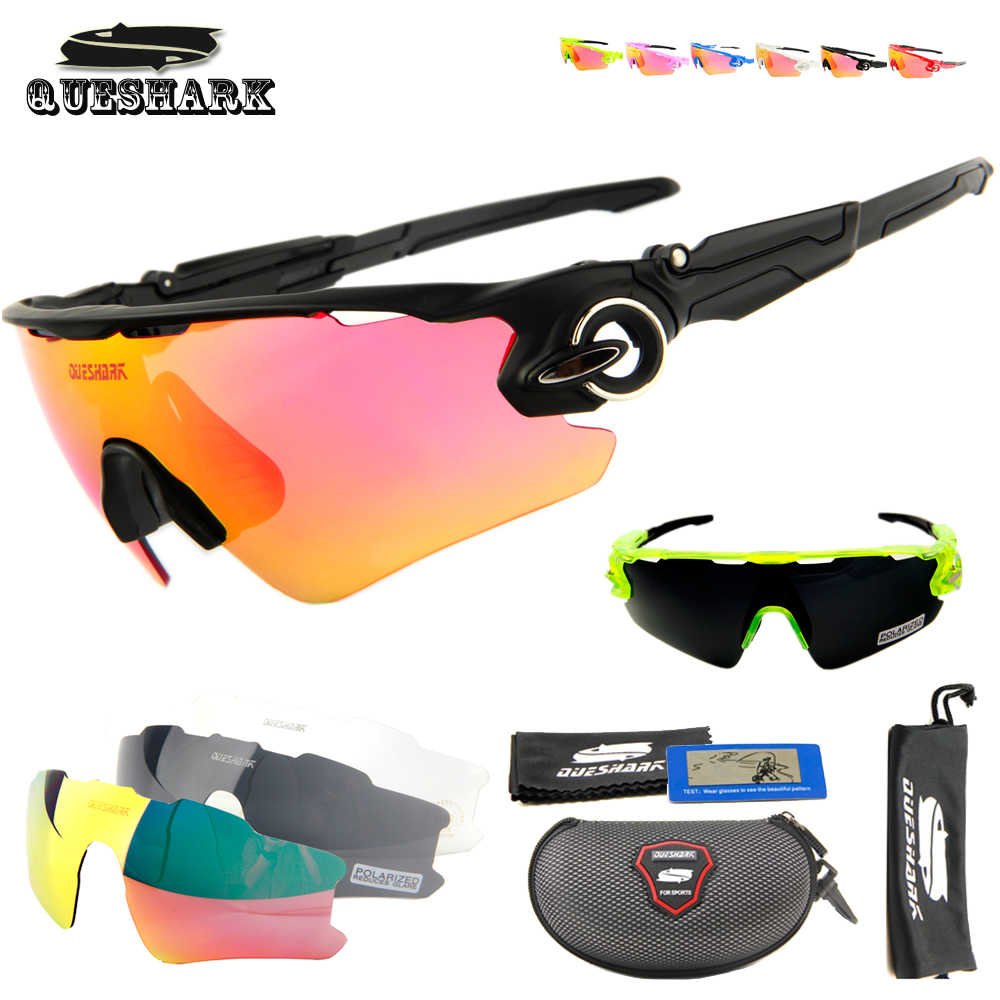 01ae81e348 Queshark Men Women Polarized Cycling Glasses Sports MTB Bike Bicycle  Sunglasses Goggles 3 Lenses Motorcycle Cycling