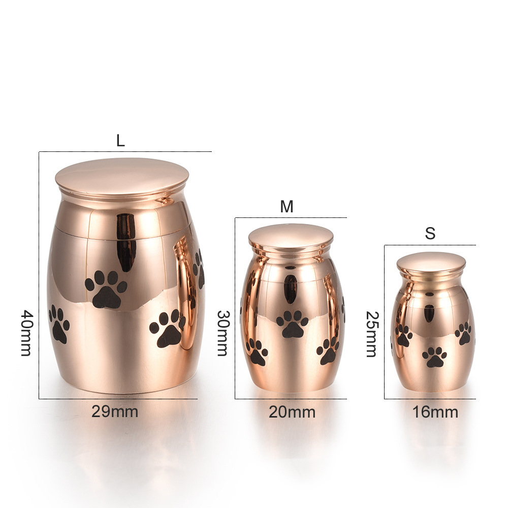 PETS DOG CATS CREMATION URN, SOLID STAINLESS STEEL CREMATION URNS, FUNERAL URN WITH PERSONALIZATION