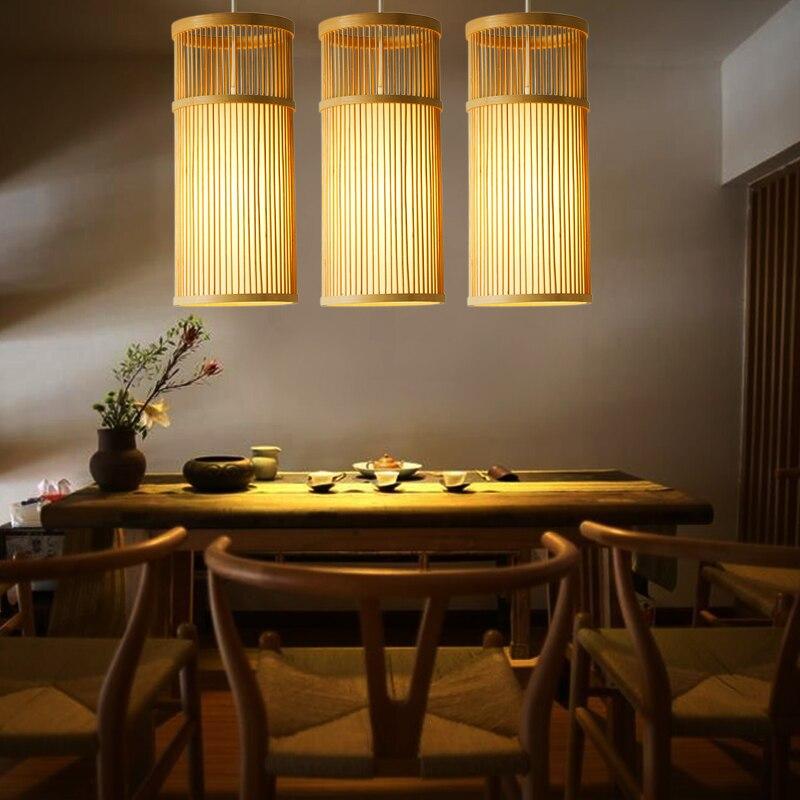 Japanese single head pendant lamps creative tea restaurant aisle lights bedroom bedside wood pendant lights ZA627 ZL116 YM