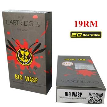BIGWASP Disposable Gray Cartridge Needle 19 Curved Magnum (19RM) Tattoo Needle 20Pcs/Box Supply For Tattoo Machine