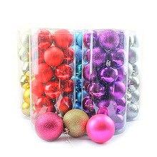 24pcs/Lot Colorful Glitter Christmas Tree Decor Balls