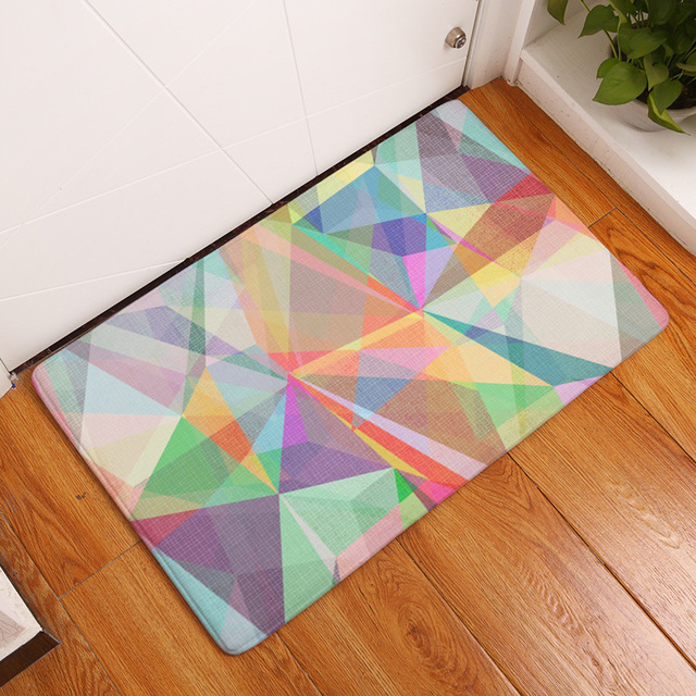 MDCT Geometric Rainbow Color Phantom Design Welcome Door Mats Area Rugs and Carpet Anti-skid & MDCT Geometric Rainbow Color Phantom Design Welcome Door Mats Area ...