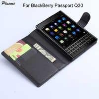 Plusme Per BlackBerry Passaporto Q30 Caso di Qualità di Hight di Vibrazione DELL'UNITÀ di elaborazione di Caso di Cuoio Del Raccoglitore Per BlackBerry Passaporto Q30 Caso Della Copertura Posteriore