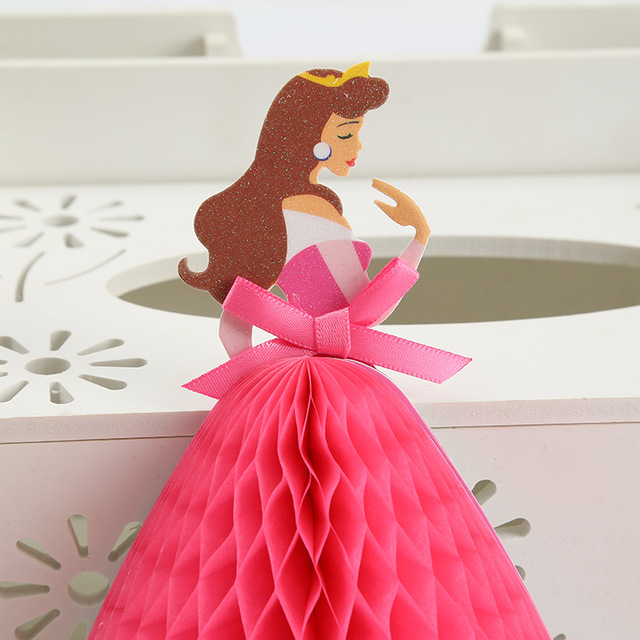 3D Pop Up Cards Birthday Party Decorations Princess Invitation Cards ...