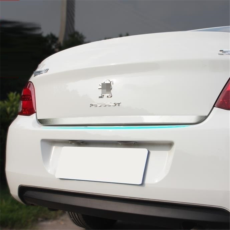 car accessories chromium modification trunk tail doors exterior parts mouldings decorated decora FOR Peugeot 301