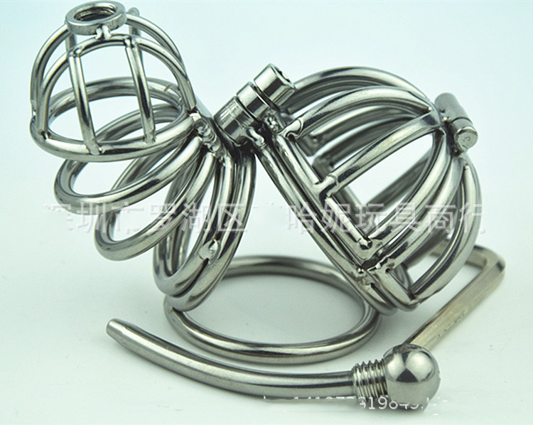 Chastity Locks Male short metal An crown chastity device catheter penis metal cock lock men Penis Virgin locks chastity locks small size urethral probe catheter prince wand male hands free masturbator penis stretching virgin lock
