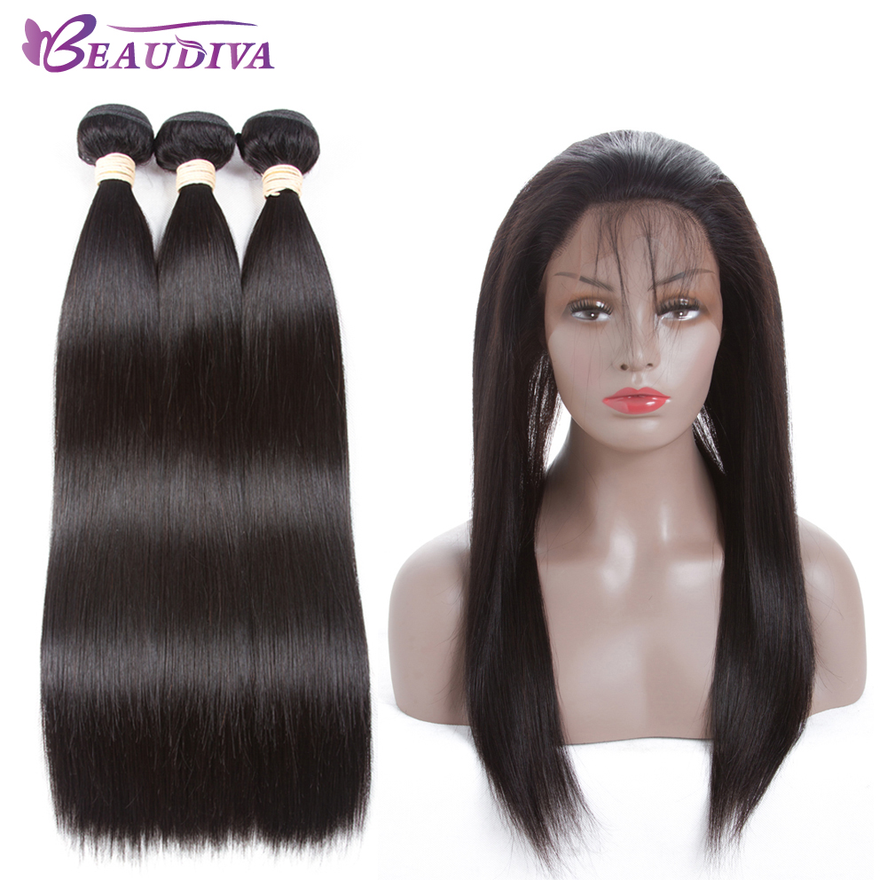 BEAUDIVA Pre Colored Human Straight Hair Weave Three ...