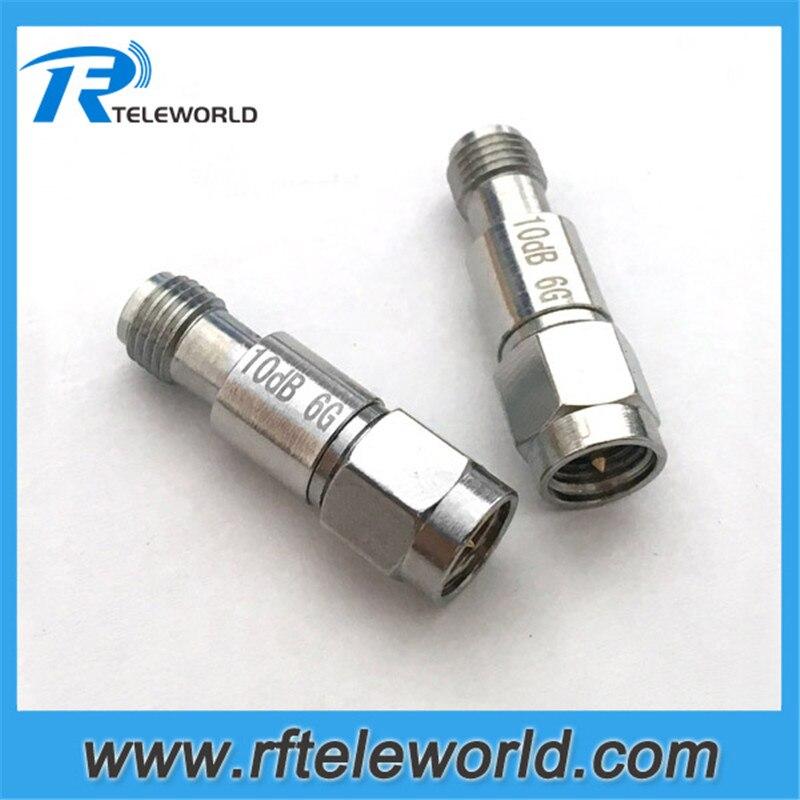 10pcs lot 2W rf SMA attenuator 6GHz 1 2 3 5 6 10 15 20 30dB