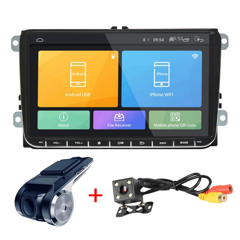 <font><b>2</b></font> <font><b>DIN</b></font> Android 8.1 Car radio Car GPS Navigation 9'' Autoradio For SKODA <font><b>GOLF</b></font> 5 <font><b>Golf</b></font> <font><b>6</b></font> POLO PASSAT B5 B6 TIGUAN DVD player BTRDS image