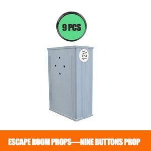 Sala de escapar Adereços 9 Pressione Os Botões de Todos Eles ou em Parte no sentido de Abertura 12/24 v EM Bloqueio