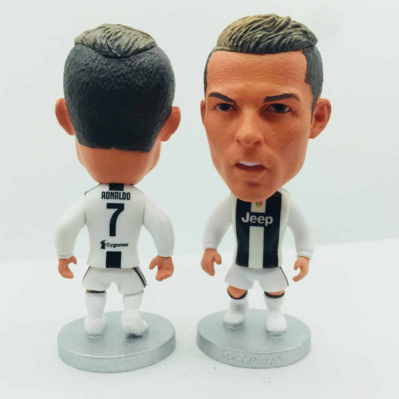 new product 6b6c8 526c6 Soccerwe JUV Ronaldo 7# Kits Doll 2019 Season White Black ...