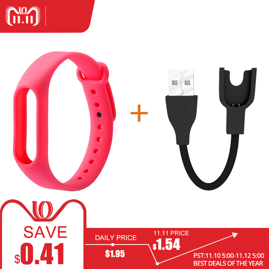Smart Straps For Mi Band 2 Strap Charging Cable Usb Charger For Xiaomi Mi Band 2 Strap Bracelet Pulseira For Mi Band 2 точило metabo ds 150 619150000