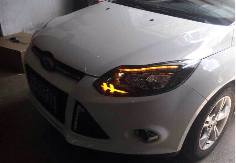 Auto Clud Xenon Headlights For Ford Focus   Head Lamps For Ford Focus H Xenon Hid Kit Bi Xenon Lens Led Drl Car Styling In Car Light Assembly From