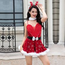 Miss Santa Suit Christmas Costume Suit Sexy Festival Cosplay For Party Wear  Performance Dance Dresses Christmas Clothing b5a1b3a372ed