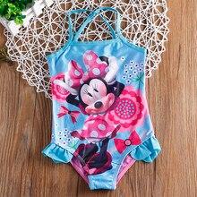 c67c4c17a جديد 2018 بنات قطعة واحدة الصيف الشاطئ ملابس السباحة للطفل و الفتيات ملابس  الأطفال الكرتون تصميم