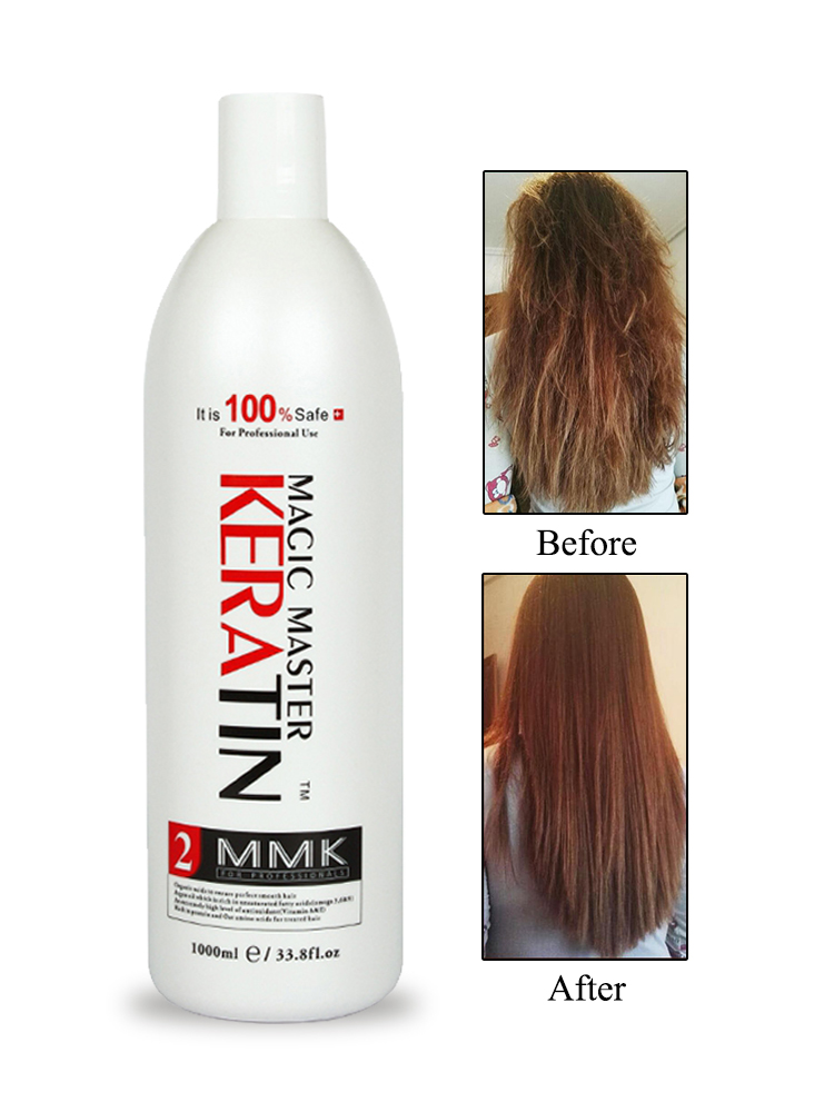 Купить с кэшбэком Keratin1000ml Without Formalin Magic Master Fresh Smelling Keratin Hair Treatment Straight and Helpful for Damaged Frizzy Hair