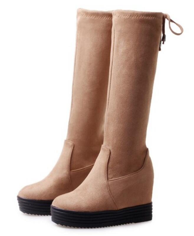 32b80cf5cb8 Altura Hasta Black Incleasing Femenino Zapatilla Plataforma Rodilla gray Mujer  yellow Otoño Mujeres La Sapato Cuña Xz181621 Zapatos Botas ...