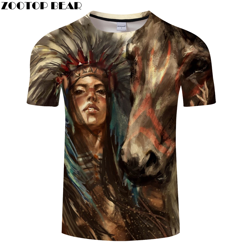 Horse 3D t shirt Men tshirts Male T-Shirt Summer Tops Casual Short Sleeve Tees Personality Vintage Camiseta DropShip ZOOTOPBEAR
