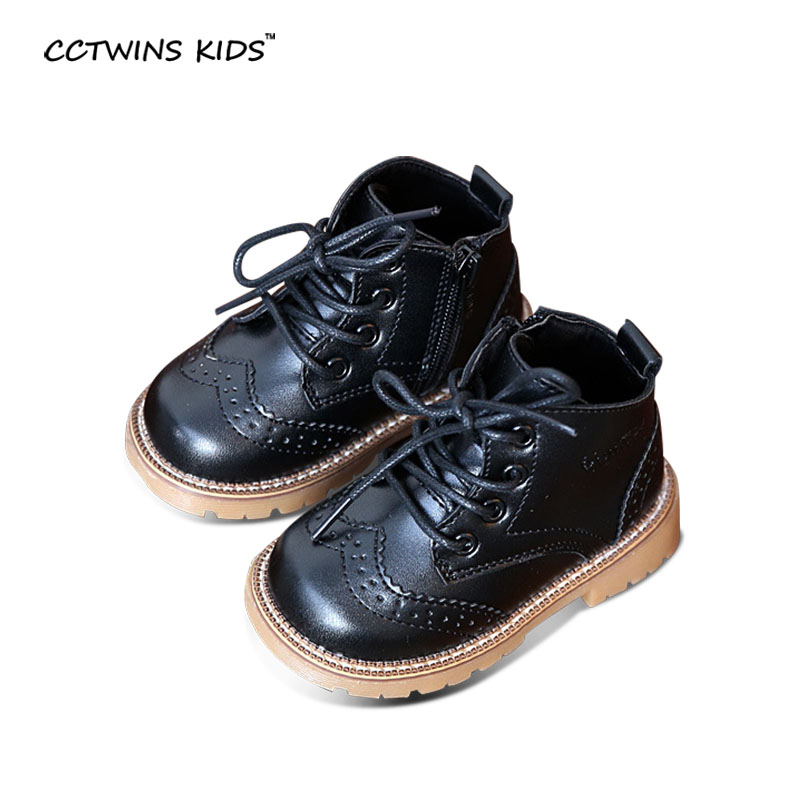 686285291 CCTWINS KIDS autumn baby boys oxford shoes for children dress boot girl  fashion martin boots toddler pu leather boots black C363