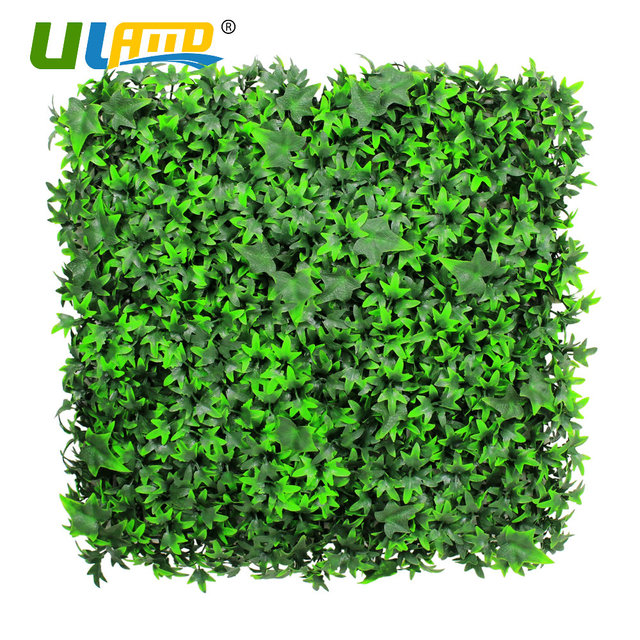 ULAND Plastic Plants Fence 1 pc 25x25cm Artificial Boxwood Hedge ...