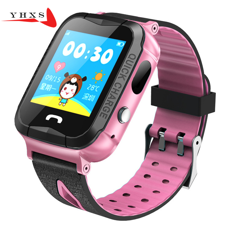 1.44 Touch Screen Smart GPS Tracker Location SOS Call Remote Monitor Camera Flashlight Watch Wristwatch for Kids Child Students