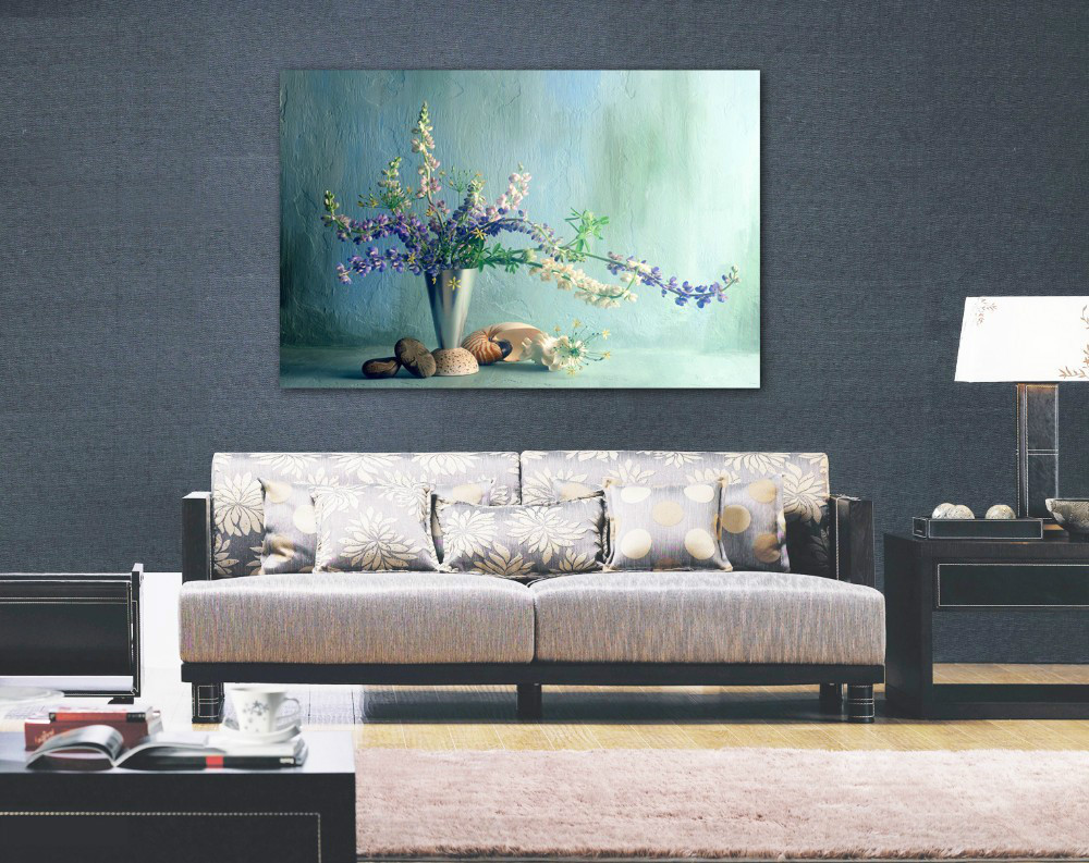 Wall painting styles - One Panel Wall Art Flower Canvas Painting European Style Contemporary Art Flower Picture Abstract Oil Painting