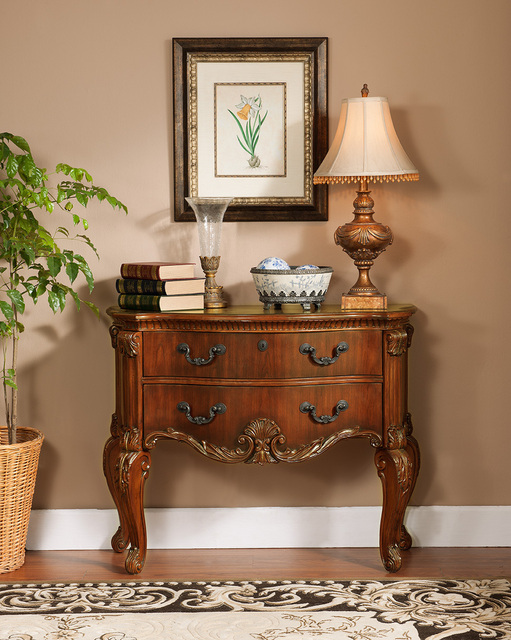 Solid wood console table with carving European style console cabinet  antique looking sideboard - Solid Wood Console Table With Carving European Style Console Cabinet