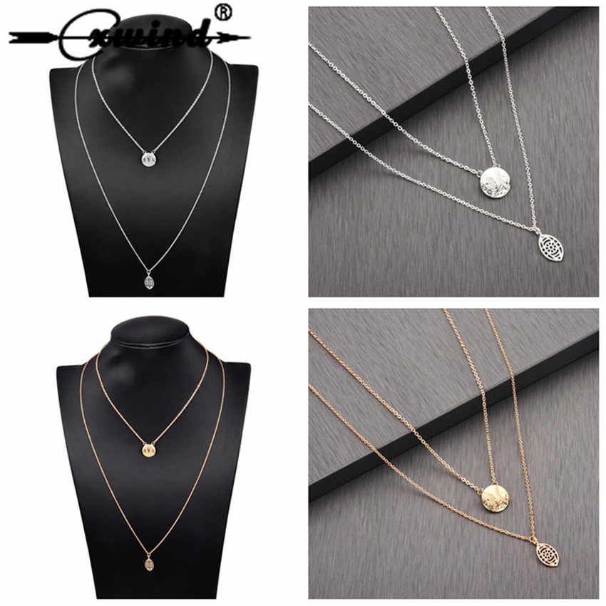 Cxwind Bohemia Multilayer Sport Ball Choker Necklace Statement Baseball Oval Ball Pendant Necklace for Women Men Chain collares