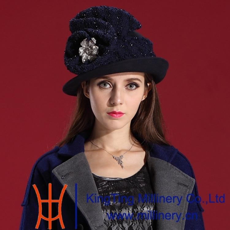 Free Shipping Elegant font b Classic b font Fashion Woman font b Hat b font Wool