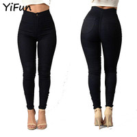 YiFun 2018 Spring Summer Women Fashion Thin Candy Colors Jeans Women Casual Slim Jeans Fit Skinny