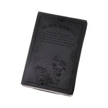 Водонепроницаемые черные пластиковые покерные игровые карты матовая задняя гладкая лицевая карта Новинка