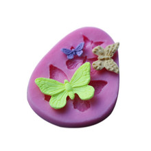 4YANG 3D Silicone Mold Butterfly Shaped Fondant Cake Soap Mould Bakeware Baking Cooking Tools Sugar Cookie Jelly Pudding Decorat m1073 butterfly shaped fondant cake mold silicone mold lace pattern mould bakeware baking cooking tools sugar cookie decor