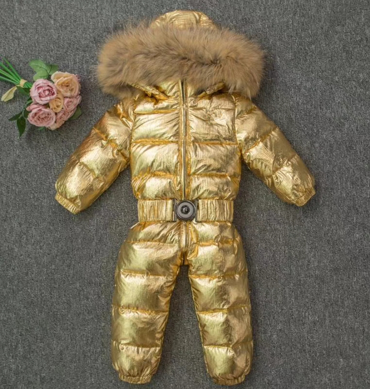 Warm Russian baby jumpsuit winter Rompers duck down baby girl rompers hooded children jumpsuit infant boy snowsuit Overalls 2018 new baby girl boy toddler winter rompers clothes infant hooded duck down sets jackets coats overalls 2 5y baby outwear