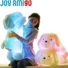 50 CM Grand Lumineux En Peluche LED Light Up Peluche Glow Teddy Chien Chiot Auto 7 Couleur Rotation Lumineux Oreiller Cadeau