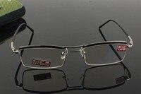 Optical Custom made optical lenses myopia Business Coated Double Bridge Commercial Mens reading glasses Photochromic -1 to -6