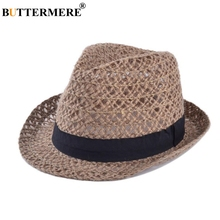 BUTTERMERE Straw Hat Women Sun Jazz Linen Female Panama Casual Summer 2019 New Fashion Beach Ladies Hats Gorra Hombre