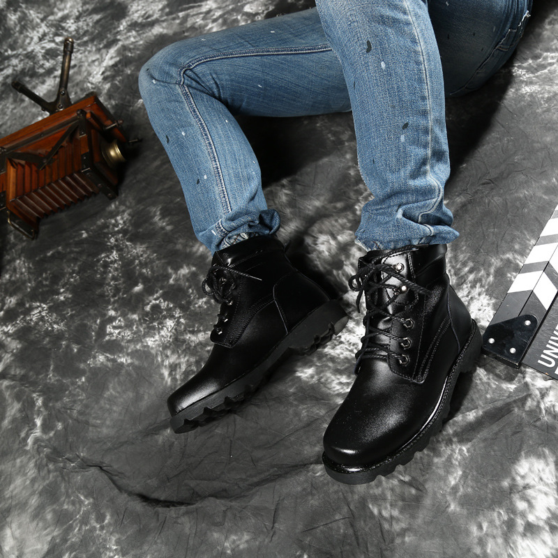 High Lacent De Hommes D'hiver Mode Cuir En Court Chaud Top Casual Chaussures Aa60536 Eu38 Bottes 48 Moto Noir Fourrure Cheville Mâle rdhCstQ
