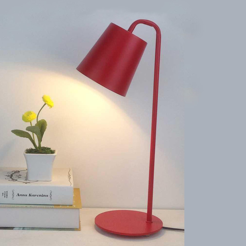 Nordic modern wrought iron table lamp,metal lampshade vintage desk lamp for office/study room bedroom reading lamp light fixture vintage handmade art retro wood tripod table lamps desk light searchlight alumnum metal copper lampshade nordic design tll 4