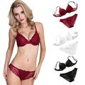 High Quality Women Push Up Lace Padded Bra Set Embroidery Underwear ,sexy lingerie intimate