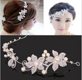 Diamond Tiaras And Crowns Bridal Hair Ornaments For Weddings Crystals Pearls Hair Accessories Forehead Jewelry Women Diadem A023